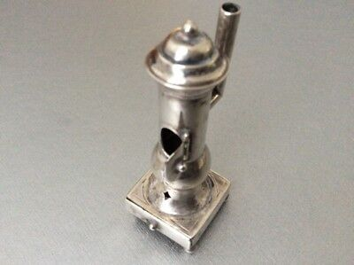 Antique solid Sterling Silver Stove / Oven Miniature for Doll House / Silver