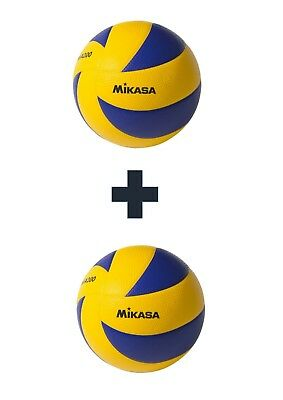 Mikasa FIVB MVA200 Soft Volleyball Size 5 PU Official Volley ball (2 pack)