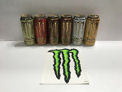 Monster Energy Java Rare Collectors Lot Chai Hai,lo Ball 15oz Cans Empty