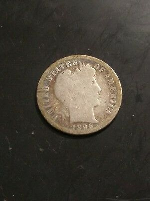 1895 Barber Dime--Silver--Circulated