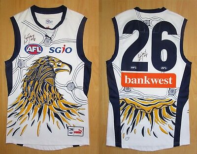 2014 West Coast Eagles Indigenous Player Issue Guernsey Jumper Jersey Signed COA