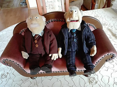 ORIGINAL MUPPETS Grandpa Waldorf and Statler with luxury couch color old pink
