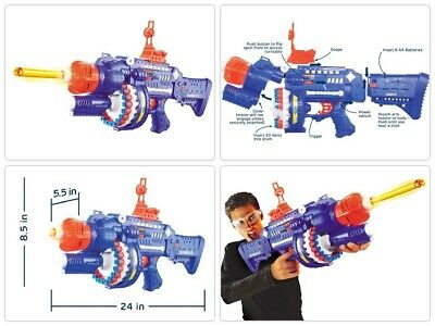 Best Nerf Gun For Boys Sniper Scope Pistol Shotgun Vortex Blaster Machine Red US
