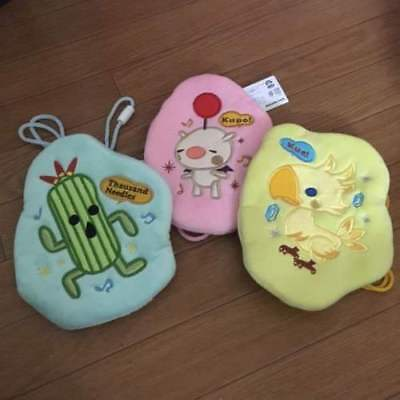 Final Fantasy All Stars Coin Pouch set of 3 Chocobo Moogle Cactuar