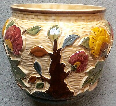 Indian Tree majolica Hand Painted Pottery By HJ Wood