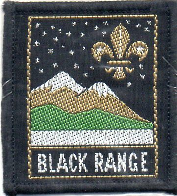 N S W  Scout Badge     Black Range