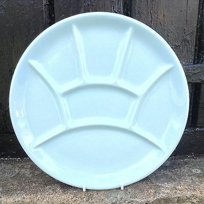 Vintage Retro French Plate Fondue Platter Divided Pale Blue Dish 1970's Stamped