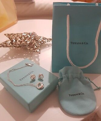 Tiffany and Co Elsa Peretti Eternal Circle earrings and necklace set