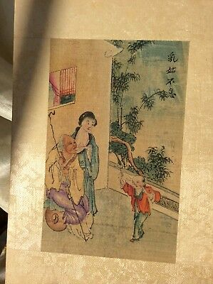 Chinese Antique Book Lu Yu Sing Foochow 24 Cases Filial Piety 24  Paintings Rare