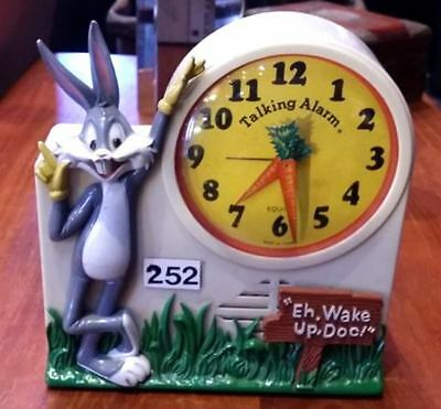 Vintage Bugs Bunny Talking Alarm Clock Working By Janex Corp c.1974