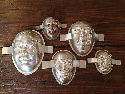 Vintage French Letang Chocolate Mould Jelly Cake Tin Shop Display Grotesque Face