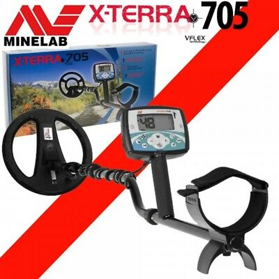 "GENUINE MINELAB X-TERRA 705 METAL DETECTOR + 10X5"" COIL   No reserve price !!!"