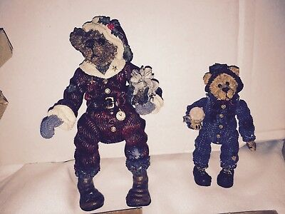 """Boyds Bears """"the Shoe Box Bears""""  """"uncle Nick"""" Grizberg And """"elias"""""""" The. Elf"""
