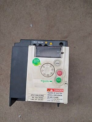 Schneider ATV12HU22M2 single phase to three phase VFD 230V
