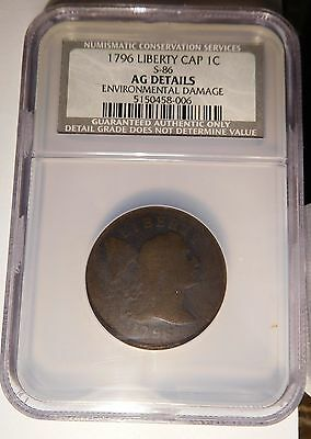 1796 Liberty Cap Cent S-86 R-5