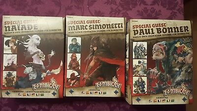Zombicide 3 Special Guest Box Pack Naiade Marc Simonetti Paul Bonner