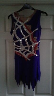 ice skating competition dress ladies size 8-10 purple