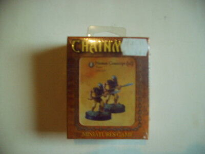 D&D Chainmail - Miniatures Game - Human Conscrit (x2) - OVP