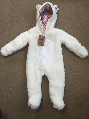 Baby Girls Snowsuit All In One Suit 3-6 Months From  debenhams mantaray