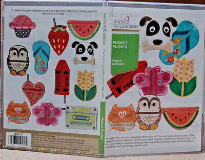 Anita Goodesign Machine Embroidery Software - Pocket Purses  Projects Collection
