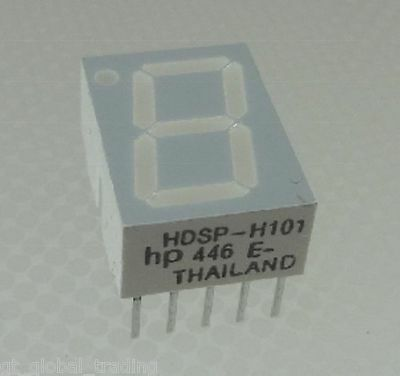 HP 446 Low Current 7 - Segment Anzeige 7-Segment Display rote LED
