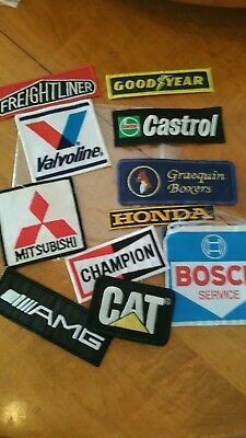 patches lot of 11 Motocross Racing  Goodyear Valvoline cat champion