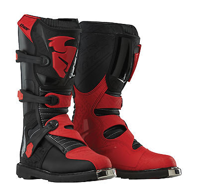 Thor Blitz 2016 Youth MX/Offroad Boots Black/Red