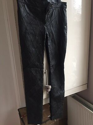 Preen Line Designer Leather Trousers £650 Size 8-10