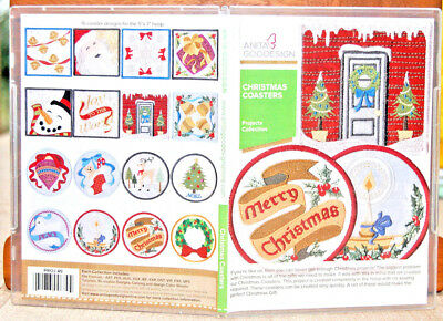 Anita Goodesign Machine Embroidery Software - Christmas Coasters  Collection