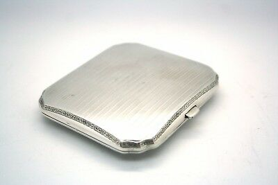 French Solid Silver Cigarette Case