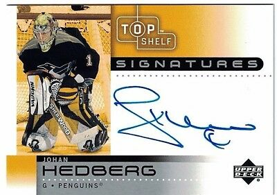 NHL Autograph Tradingcard – Johan Hedberg – Pittsburgh Penguins