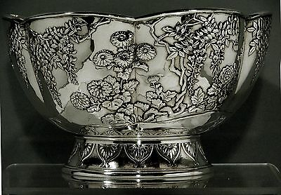 Japanese Sterling Bowl    SHIGEMITSO    40 OZ.      * Was $5900  -  NOW  $4500 *