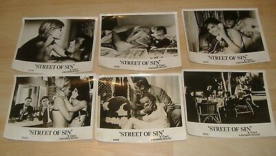 6x Front Of House Photographs / Lobby Cards.Street Of Sin - Butchers Release