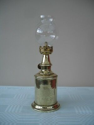 ORIGINAL FRENCH BRASS VINTNERS PIGEON WALL HANGING OIL LAMP H.24cm