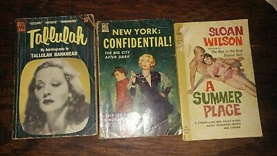 Vintage Mixed Paperback Lot of 3 adult novel, autobiography and mystery Dell