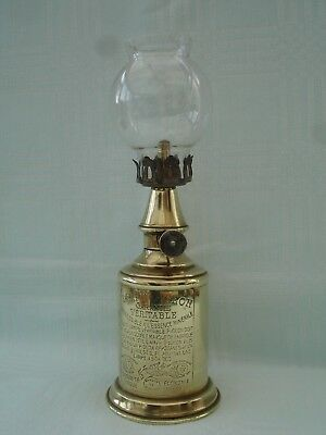 FRENCH ORIGINAL BRASS VINTNERS PIGEON WALL HANGING OIL LAMP H.24cm
