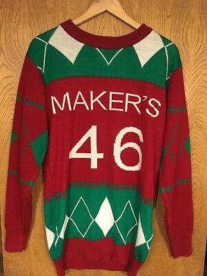 Maker's Mark 46 Ugly Christmas Sweater Men's L Whiskey Limited Edition