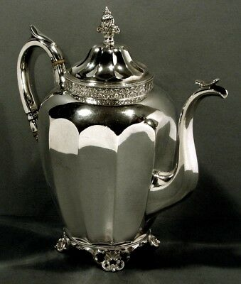 "Wood & Hughes Silver Coffee Pot      "" New York c1855 ""       37 Ounces"