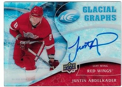 NHL Autograph Tradingcard – Justin Abdelkader – Detroit Red Wings