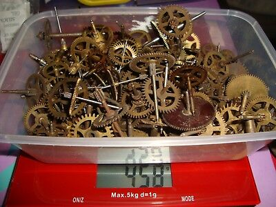 """140 Clock Cogs Gears up to 1¼"""" Etc Clockmakers STEAMPUNK Altered Art Craft E12"""
