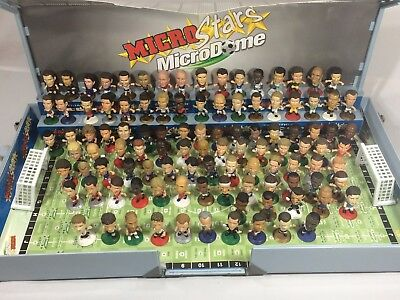 Corinthean Microstars Lot of 106 Players + Microdome W/ Pitch, Stadium & Stands