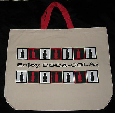 NWOT RARE Vintage 1980's Coca-Cola Enjoy Coca-Cola Registered Tote Bag