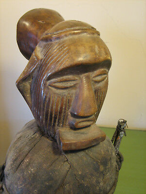 Cool Teke Power Figure With Bilongo African Tribal Art Statue
