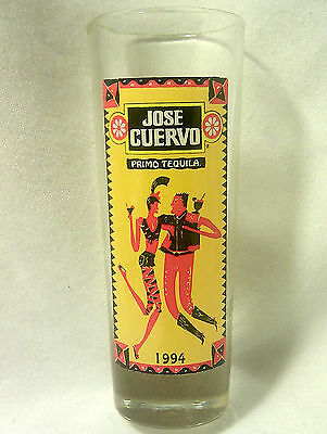 "1994-PRISTINE CONDITION-Jose Cuervo Tequila-Shot Glass-WEIGHTED-3 1/2"" TALL"