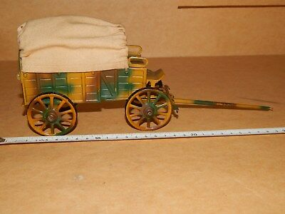 Alter Lineol Treng Wagen 7, cm Mimigry Toy Soldiers Blechspielzeug Planwagen