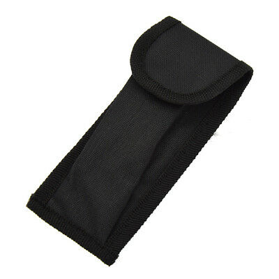 Black Nylon Sheath For Camouflage Folding Blade Pocket Knife Pouch Case Belt