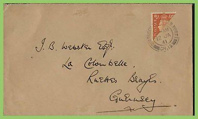 Guernsey 1941 KGVI 2d bisect on St Peter Port Cover