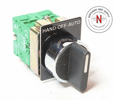Danfoss Selector Switch, 3-Position, Neutral Center, N.o Left, Right Contacts