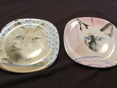 Minou-ettes By C. Pradalie 2 Cat Collector Plates
