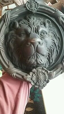 "Lion Head old Door Knocker - Large - 7.5"" - Brass Eastlake Antique Hardware"